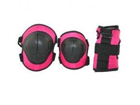Růžová souprava chráničů EX110, velikost XS