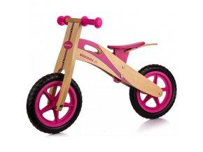 rowerek biegowy enero drewniany rozowy 12