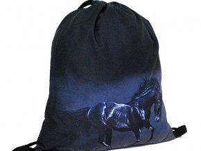 Vak na záda 3D Kůň-černý