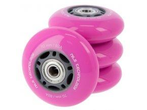 PU kolečka s ložisky NILS EXTREME 70x24mm ABEC 7 růžové