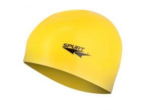 Silikonová čepice SPURT G-Type F201 junior, žlutá
