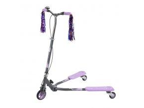 Koloběžka tříkolová NILS EXTREME Fliker 125 fialová