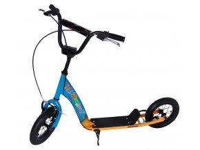 "Street koloběžka s nafukovacími koly 12"", oranžovo-modrá"