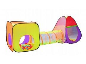 Zahradní stan pro děti s tunelem 3v1, spojovací