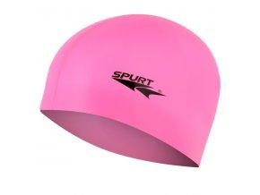 Silikonová čepice SPURT G-Type F227 junior, růžová
