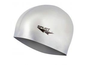 Silikonová čepice SPURT G-Type F221 senior, stříbrná