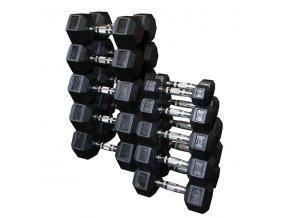 Sada jednoručních hexa činek BodySolid 2 x 22,5 kg