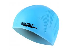 Silikonová čepice SPURT SE25 s plastickým vzorem, modrá