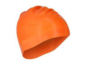 Silikonová čepice SPURT G-Type F209 men se vzorem, oranžová