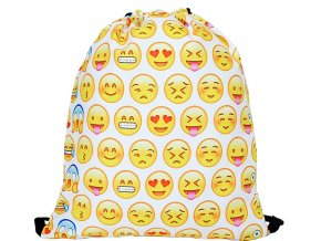 Vak na zada na prezuvky batuzek smile emoji bily 1