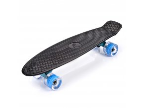 eng pl PLASTIC SKATEBOARD METEOR WITH LED WHEELS black 34958 1