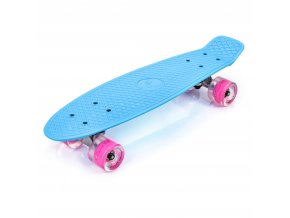 eng pl PLASTIC SKATEBOARD METEOR WITH LED WHEELS blue 34959 1