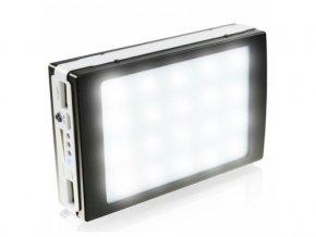 Solární nabíječka PowerBank 4000mAh s LED svítilnou