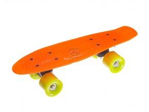 Skateboard kratký 42 cm oranžový