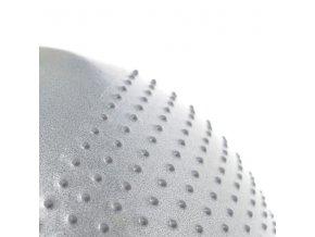 Masážní gymnastický míč HMS YB03 65 cm, šedý