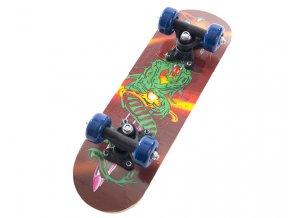 Skateboard dřevěný 43cm moster2