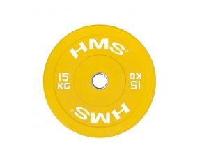 BAREVNÝ BUMPER KOTOUČ 15 KG HMS (žlutý)
