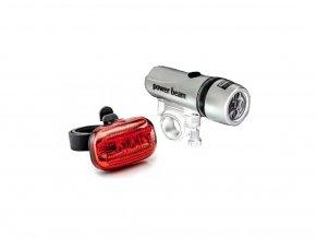 Baterka na kolo, koloběžku, přední a zadní - stříbrná