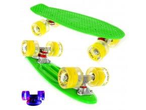 penny board kratky 42cm barevny zeleny zluty 2a