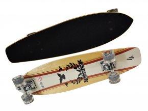 longboard dreveny bird