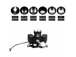 AKU čelovka Bailong BL-T63, led typu XPE + odrazka