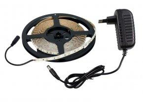 Vodovzdorné LED 3528 osvětlení, teplá bílá - 5m + adaptér
