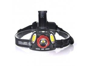 AKU čelovka 3x LED T6 + auto nabíječka
