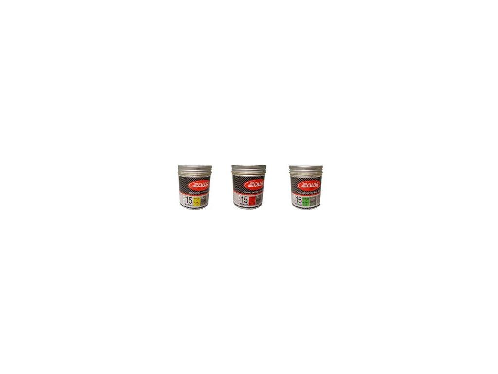 SOLDA F15 paste 180 ml (středně fluorový vosk - pasta) Červený: teplota sněhu -3°/-10°C nebo teplota vzduchu 0°/-13°C