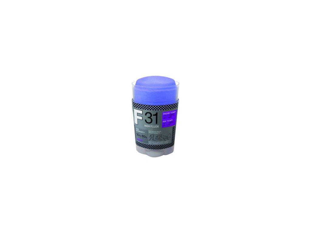 SOLDA F31 HIGH FLUOR   stick gr 35 (vysoko fluorový vosk - tyčinka) Fialový: teplota sněhu -7°/-10°C nebo teplota vzduchu -4°/-14°C