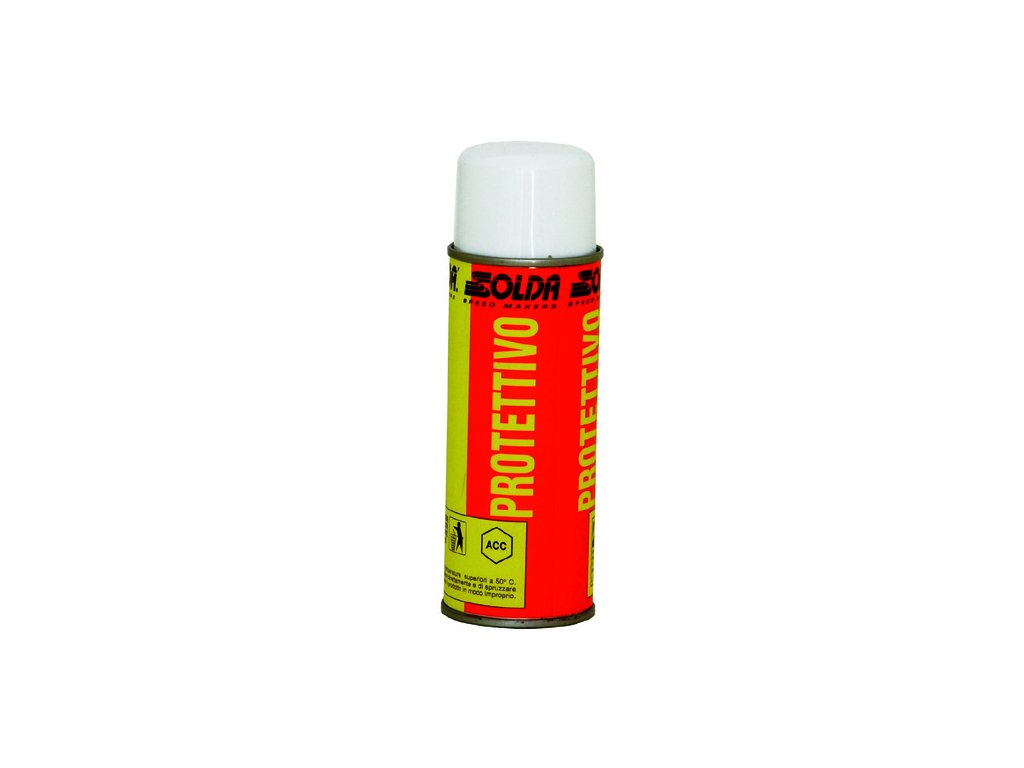 SOLDA PROTECTIVE  for ski surface   spray ml 200 (Mazivo ve spreji - chrání a udržuje skluznice lyží a SNB čisté. Neobsahuje freonový plyn.)