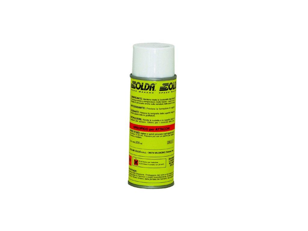 SOLDA PROTECTIVE  for bindings   spray ml 200 (Výrobek s rozprašovačem určený pro mazání a ochranu lyžařských vázání. Zachovává jejich účinnost.)
