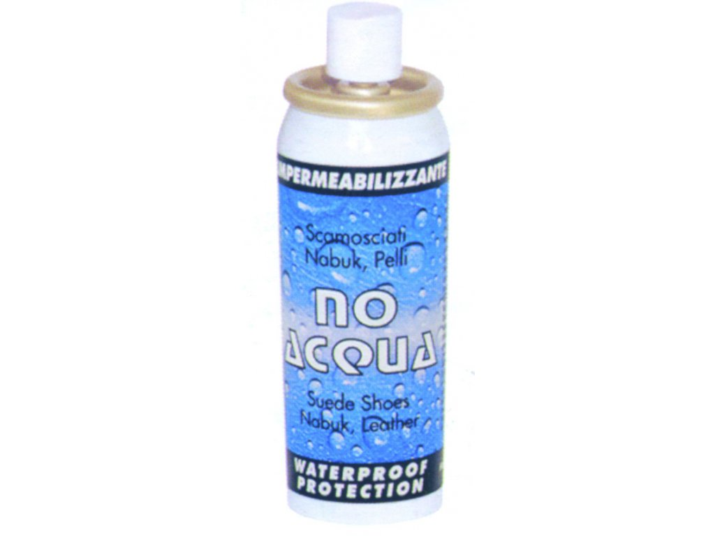 SOLDA NOACQUA   spray   ml 200 (Sprej vhodný pro všechny druhy kůže (včetně semiše a nubuk) a tkanin. Lahvička s rozprašovačem. Rychleschnoucí. Hořlavý.)