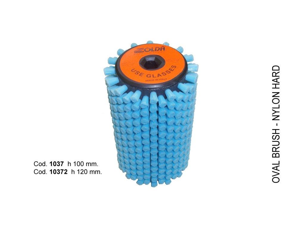SOLDA Hard nylon roto brush  mm 120 (Nylonový rotační kartáč 120mm - tvrdý nylon)