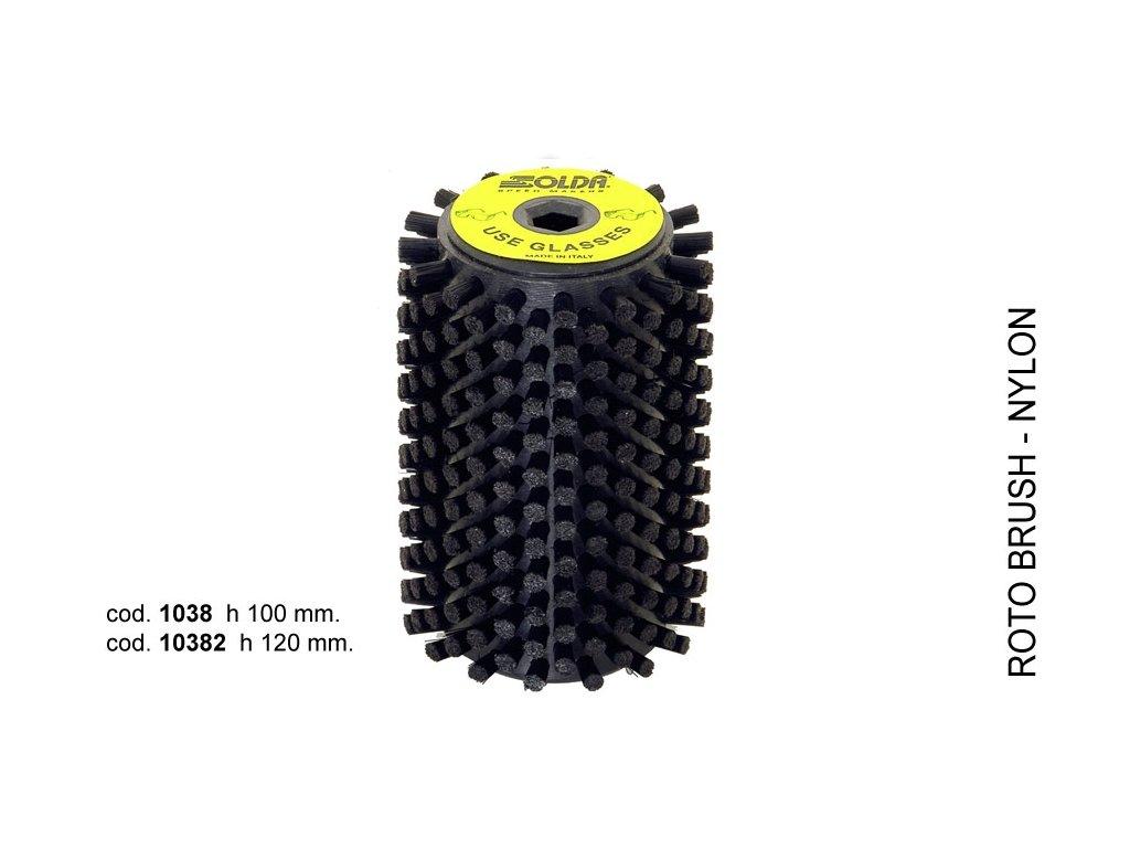 SOLDA Nylon roto brush  mm 120 (Nylonový rotační kartáč 120mm)