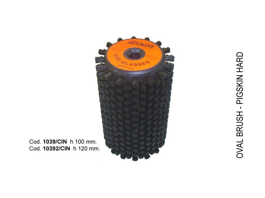 SOLDA Hard horsehair roto brush  mm 100 (Koňská žíně - rotační kartáč 100mm - tvrdý)
