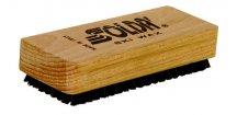 SOLDA Nylon/horsehair flat brush (Kartáč nylon/koňská žíně - ruční, plochý)
