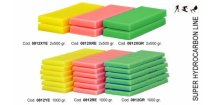 SOLDA LINEA SUPER  ( n.2 X gr 500 ) (100% hydrocarbon (balení 2x 500g) ideální tréninkový vosk pro nízkou a střední vlhkost vzduchu, Zelený: Teplota sněhu. -8°/-20°C - Teplota vzduchu -12°/-242°C)