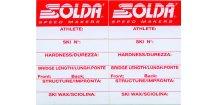 SOLDA Label for nordic skis (Nálepka na lyže běžecké)