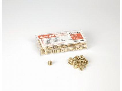 Hmoždinka SNOLI mosazná natloukací, 8,5 mm, 100 ks, odolnost vytažení 300 kp