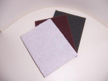 Set - Fibertex, brusný polštářek, bílý+šedý+červený (celkem 3ks)