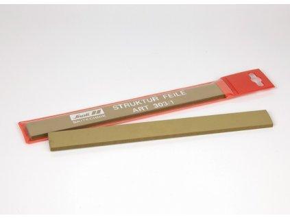 Pilník na lyže SNOLI strukturový na skluznice, 240 mm, dva různé tipy zoubků, pouzdro