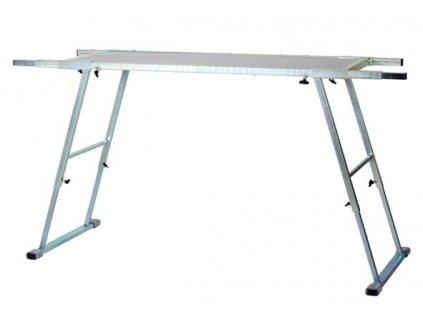 Standard Stůl na servis lyží skládací (plocha stolu 120x45 cm, pracovní délka150-200 cm, výška 60-95cm, váha cca 24 kg)