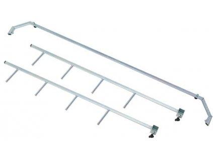 Držák na dva páry lyží na Standard servisní stůl (třídílná sestava)