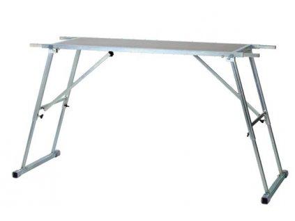 Profi stůl na servis lyží sklapovací (plocha stolu 120x45 cm, pracovní délka130-200 cm, výška 60-95cm, váha cca 22 kg)
