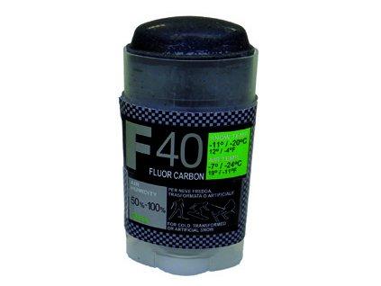 SOLDA F40 CARBON  stick  gr 30 (hyper fluorový vosk + carbon) Žlutý: teplota sněhu 0°/-1°C nebo teplota vzduchu +5°/-4°C