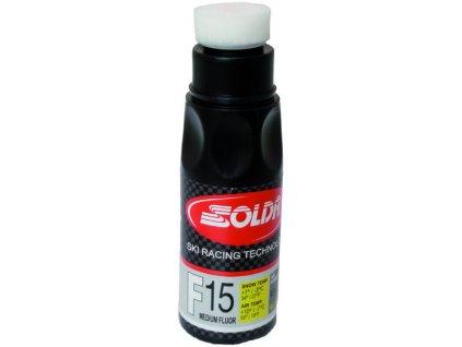 SOLDA F15 liquid   90 ml (středně fluorový vosk - tekutý)Žlutý: teplota sněhu 0°/-1°C nebo teplota vzduchu +5°/-4°C