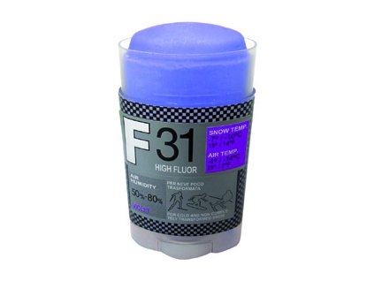 SOLDA F31 HIGH FLUOR   stick gr 35 (vysoko fluorový vosk - tyčinka) Zelený: teplota sněhu -12°/-20°C nebo teplota vzduchu -14°/-25°C