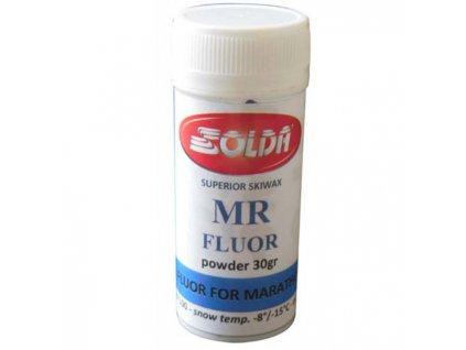 SOLDA MR special fluor for Marathon races 30gr (Výjimečný vysoce fluorovaný prášek určený pro Maratony na studeném,transformovaném a částečně transformovaném sněhu, v podmínkách střední až vysoké vlhkosti vzduchu.)