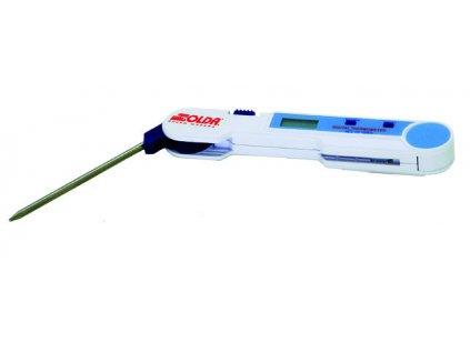 SOLDA Electronic thermometer (Malý a velmi přesný digitální teploměr, měří teploty vzduchu a sněhu od -50 ° C do + 150 ° C, s přesností +/- 0,3 ° C.