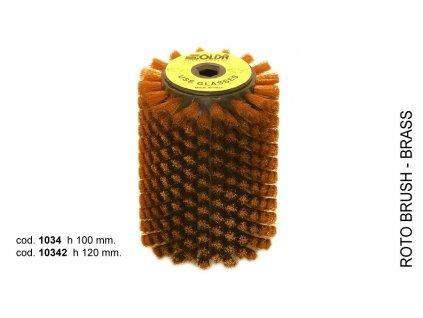 SOLDA Brass wire roto brush  mm120 (Mosazný rotační kartáč 120mm)